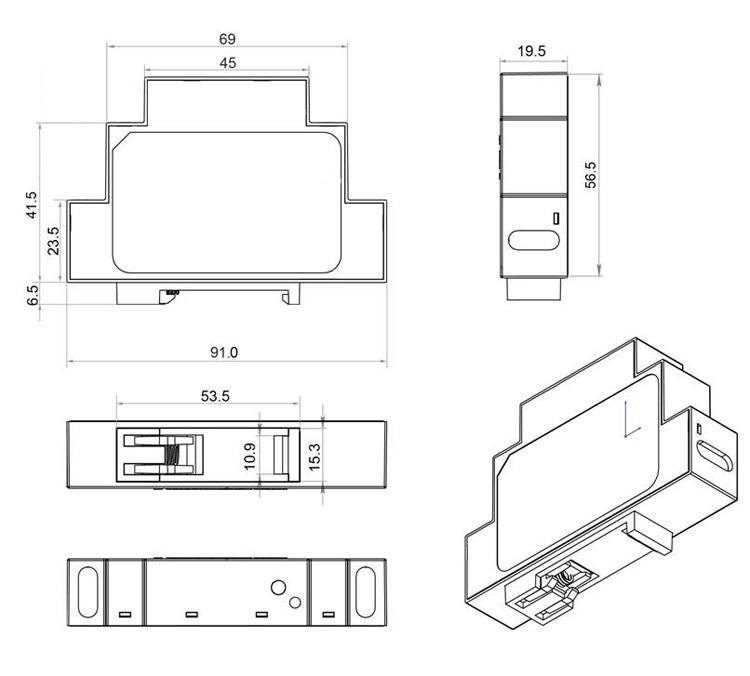 Блок питания FARADAY 12W/12V/DIN с фиксатором на DIN-рейку
